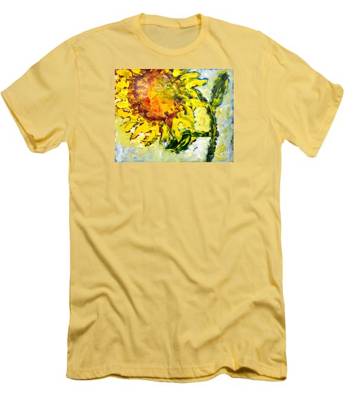 A Sunflower Greeting Men's T-Shirt (Athletic Fit)