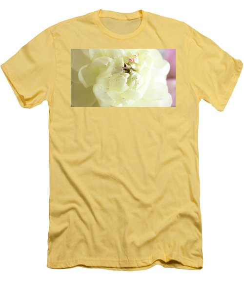 Men's T-Shirt (Athletic Fit) featuring the photograph A Touch Of Pink by Wendy Wilton