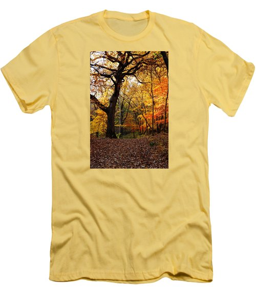 Men's T-Shirt (Slim Fit) featuring the photograph A Walk In The Woods 2 by Steven Clipperton