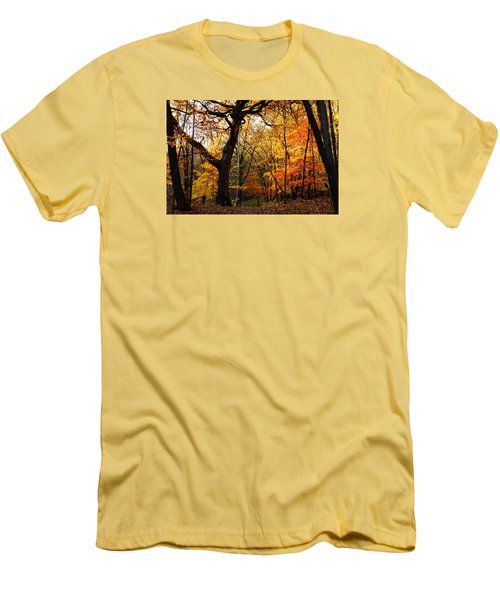Men's T-Shirt (Slim Fit) featuring the photograph A Walk In The Woods 3 by Steven Clipperton