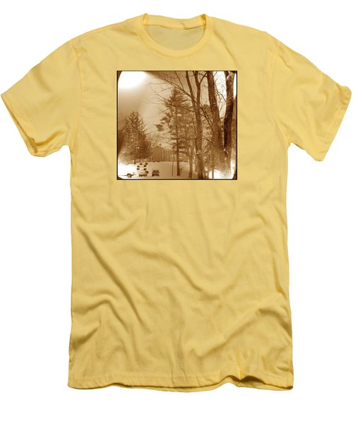 A Winter Scene Men's T-Shirt (Slim Fit) by Skyler Tipton