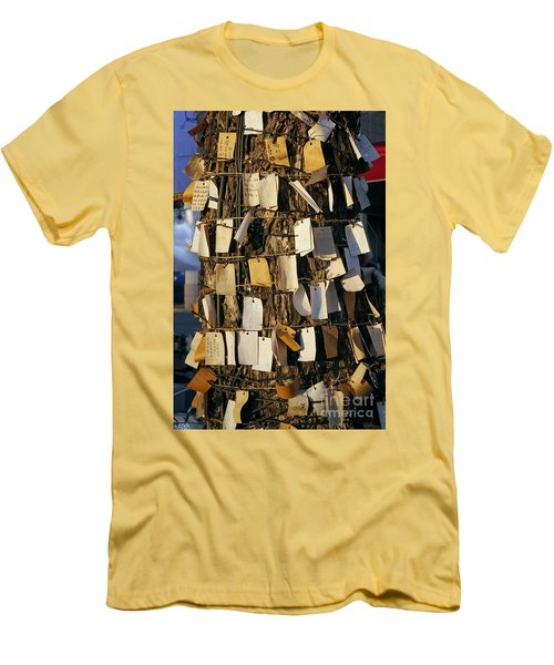 A Wishing Tree With Many Requests Men's T-Shirt (Slim Fit)