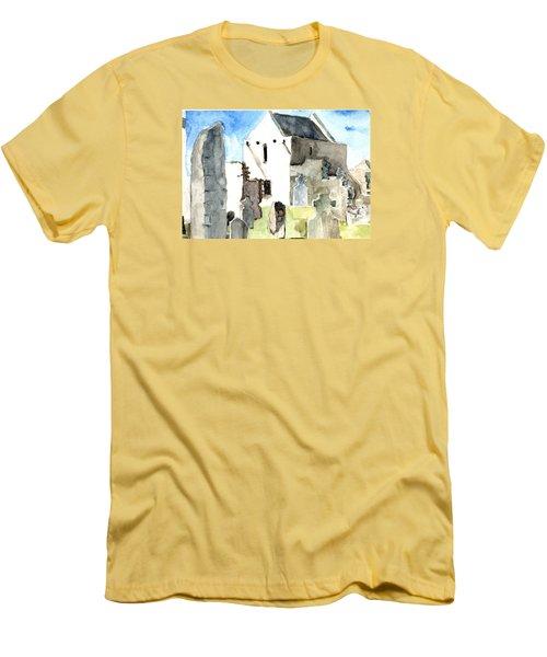 Abbey Watercolor Men's T-Shirt (Athletic Fit)