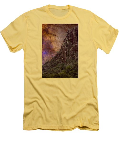 Men's T-Shirt (Slim Fit) featuring the photograph Aboriginal Dreamtime by Charles Warren