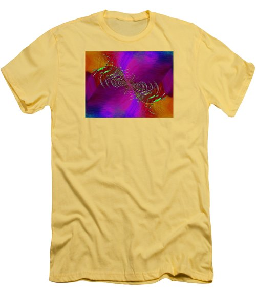 Men's T-Shirt (Slim Fit) featuring the digital art Abstract Cubed 352 by Tim Allen