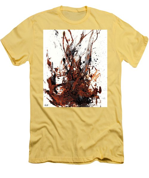 Abstract Expressionism Painting 50.072110 Men's T-Shirt (Slim Fit) by Kris Haas