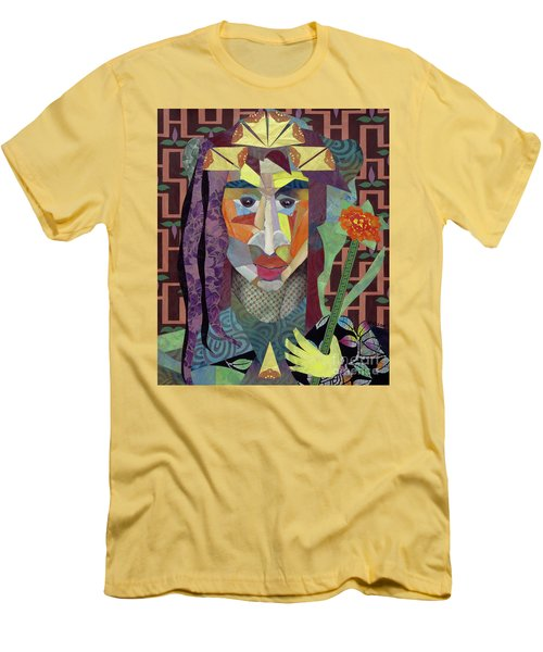 abstract figure collage - Crown Princess Men's T-Shirt (Athletic Fit)