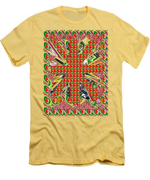 Abstract Flowers Floral Leaf Leaves Colorful Modern Art Navinjoshi Fineartamerica Pixels Men's T-Shirt (Slim Fit) by Navin Joshi
