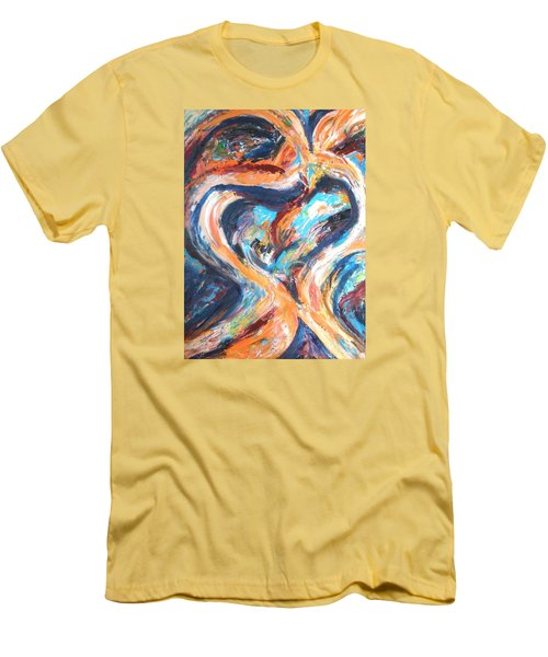 Abstract Of Womb Men's T-Shirt (Slim Fit) by Esther Newman-Cohen