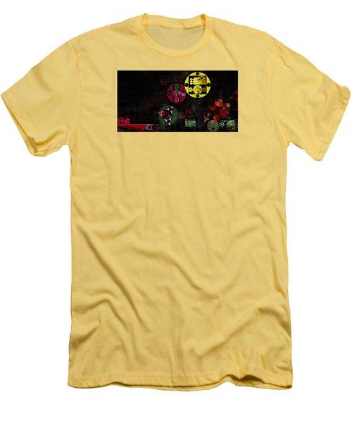 Abstract Painting - Metallic Gold Men's T-Shirt (Slim Fit) by Vitaliy Gladkiy