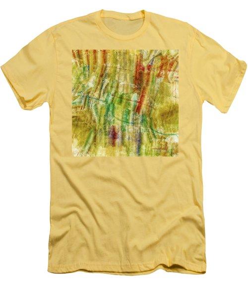 Men's T-Shirt (Slim Fit) featuring the digital art Abstract Sunday by Deborah Benoit