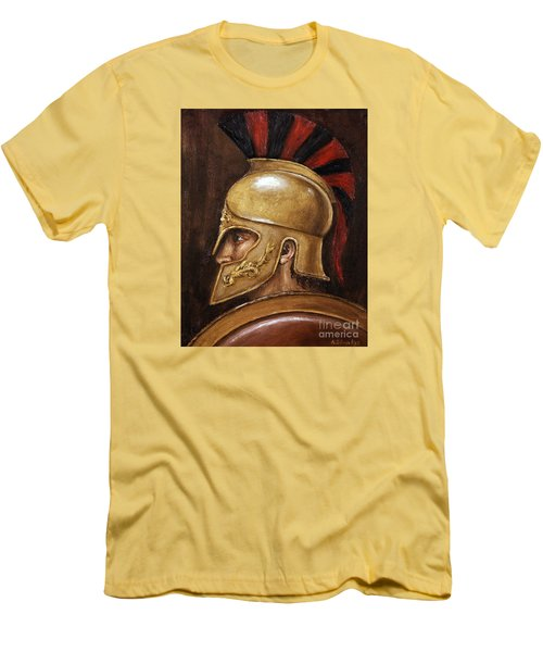 Men's T-Shirt (Slim Fit) featuring the painting Achilles by Arturas Slapsys