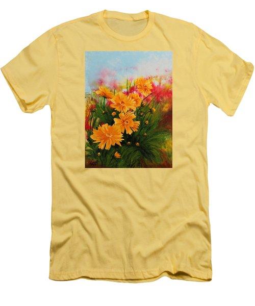 Acrylic Msc 216 Men's T-Shirt (Slim Fit) by Mario Sergio Calzi