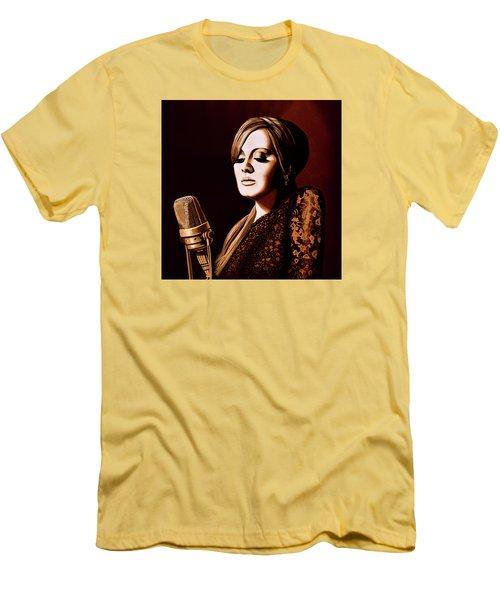 Adele Skyfall Gold Men's T-Shirt (Slim Fit) by Paul Meijering