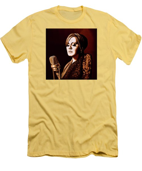 Adele Skyfall Gold Men's T-Shirt (Athletic Fit)