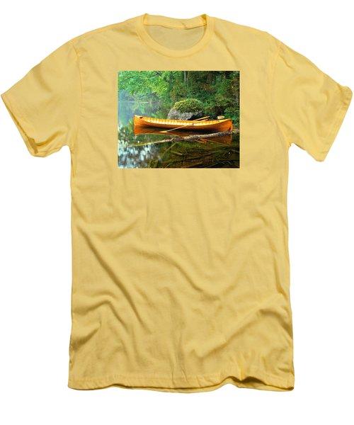 Adirondack Guideboat Men's T-Shirt (Athletic Fit)