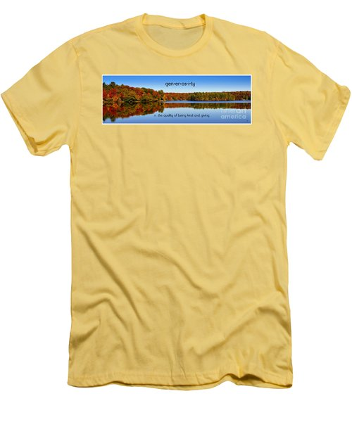 Men's T-Shirt (Slim Fit) featuring the photograph Adirondack October Generosity by Diane E Berry