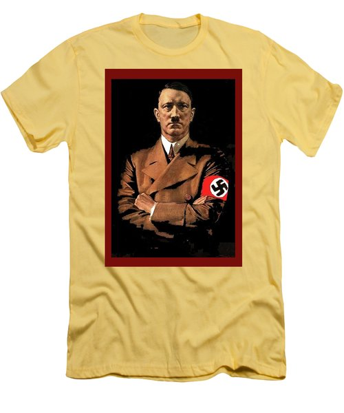 Adolf Hitler Painting Circa  1940 Color Added 2016 Men's T-Shirt (Athletic Fit)