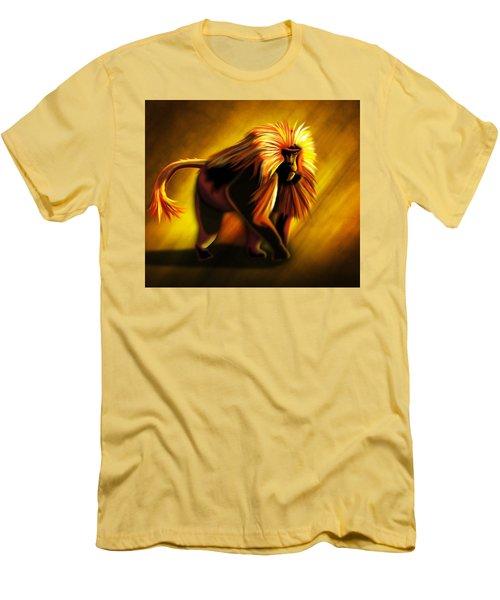 Men's T-Shirt (Slim Fit) featuring the digital art African Gelada Monkey by John Wills