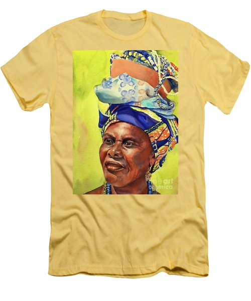 African Woman Men's T-Shirt (Athletic Fit)