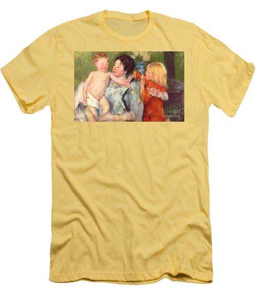 After The Bath Men's T-Shirt (Slim Fit) by Cassatt