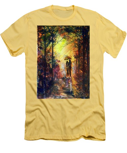 Men's T-Shirt (Slim Fit) featuring the painting After The Rain by Raymond Doward