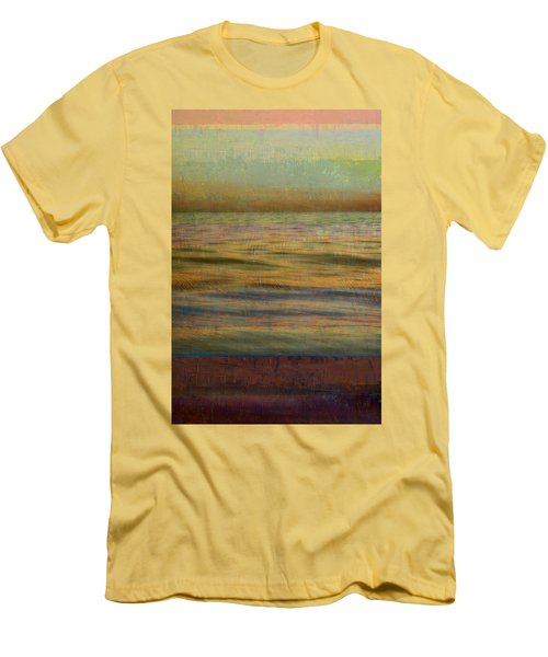 Men's T-Shirt (Athletic Fit) featuring the photograph After The Sunset - Teal Sky by Michelle Calkins