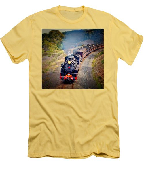 Men's T-Shirt (Slim Fit) featuring the photograph Age Of Steam by Wallaroo Images