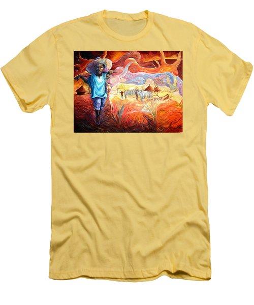 Agoi - The Sheperd Boy Men's T-Shirt (Athletic Fit)