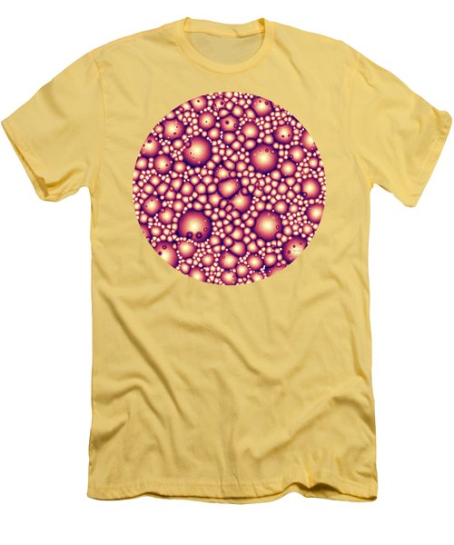 Alien Molecular Structure  Men's T-Shirt (Slim Fit) by Phil Perkins