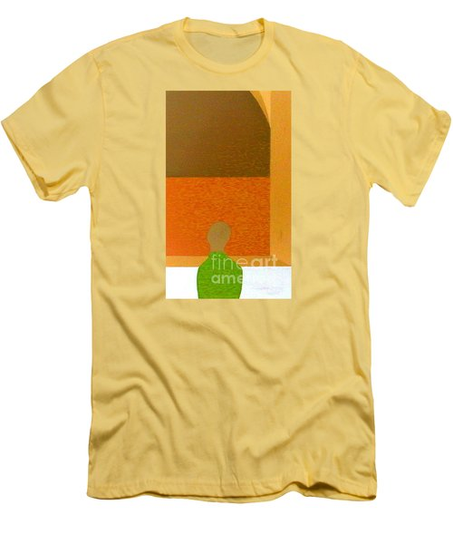 Men's T-Shirt (Slim Fit) featuring the painting All Children Wonder by Bill OConnor