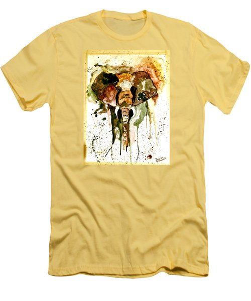 Men's T-Shirt (Slim Fit) featuring the painting All Ears by Denise Tomasura