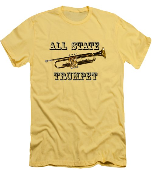 All State Trumpet Men's T-Shirt (Slim Fit) by M K  Miller
