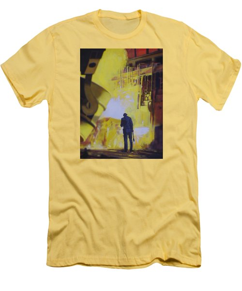 Allen Town Men's T-Shirt (Slim Fit) by Vivien Rhyan