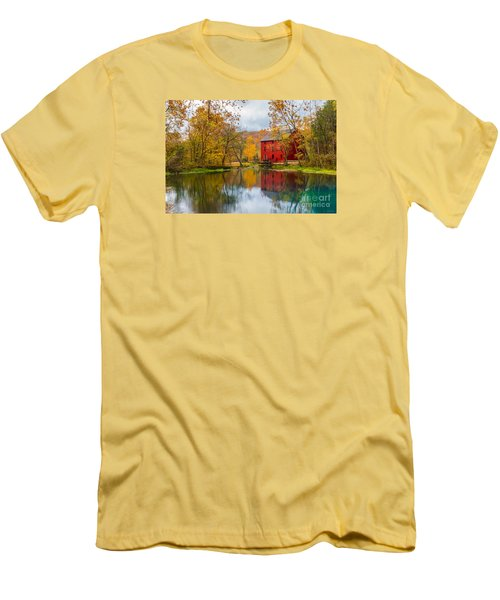 Alley Mill And Spring Men's T-Shirt (Slim Fit) by Jennifer White
