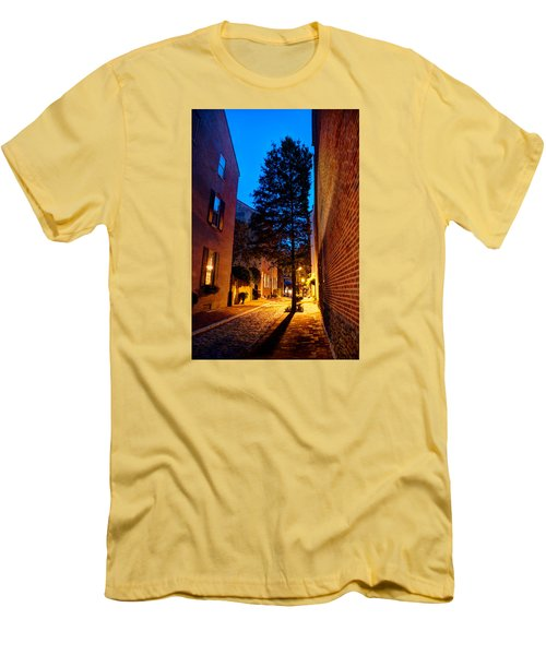 Men's T-Shirt (Athletic Fit) featuring the photograph Alleyway by Mark Dodd