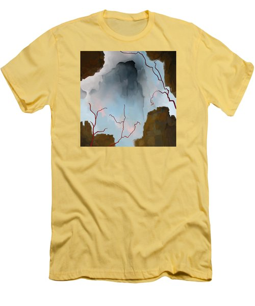 Men's T-Shirt (Slim Fit) featuring the digital art Almost Real by Constance Krejci