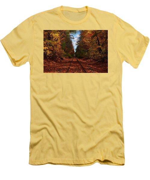 Along The Rails Men's T-Shirt (Athletic Fit)
