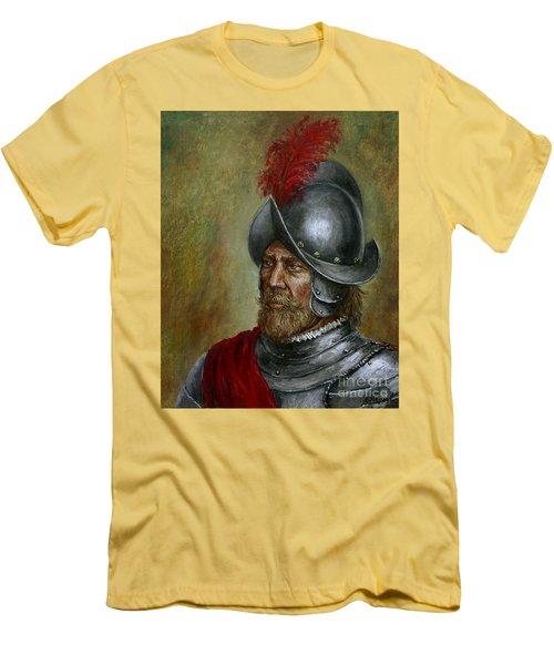 Alonso De Alvarado Men's T-Shirt (Slim Fit) by Arturas Slapsys