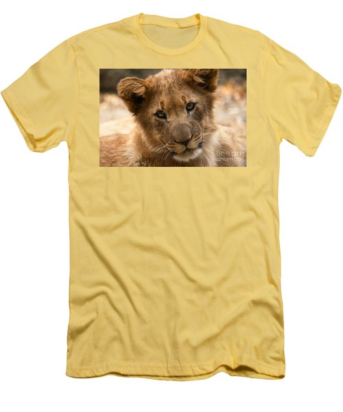 Men's T-Shirt (Slim Fit) featuring the photograph Am I Cute? by Christine Sponchia