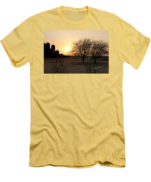 Amarillo Sunset Men's T-Shirt (Slim Fit) by Ricky Dean