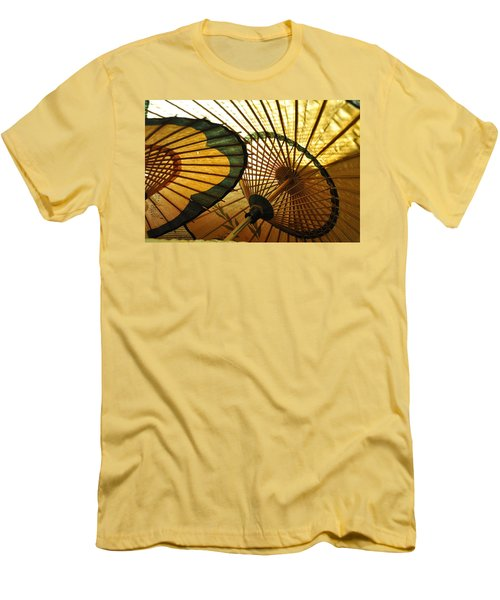 Amber Light Within Men's T-Shirt (Slim Fit) by Jan Amiss Photography