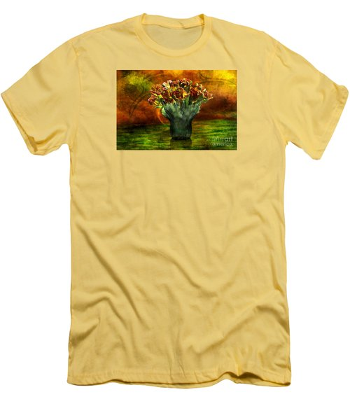 An Armful Of Tulips Men's T-Shirt (Slim Fit) by Johnny Hildingsson