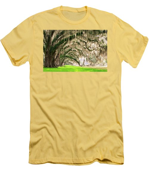 Ancient Southern Oaks Men's T-Shirt (Slim Fit) by Serge Skiba