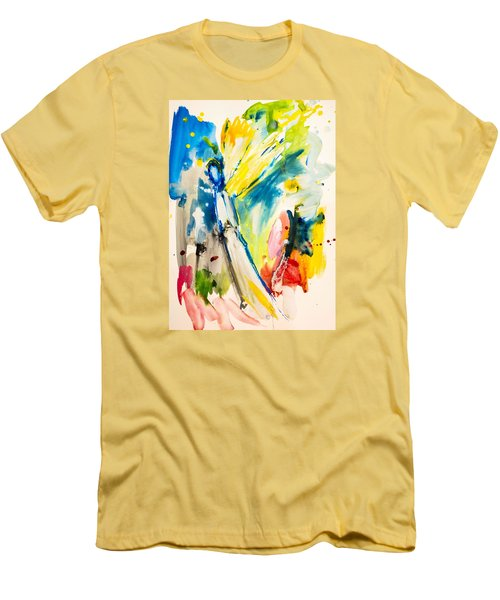 Angel Men's T-Shirt (Slim Fit) by Amara Dacer