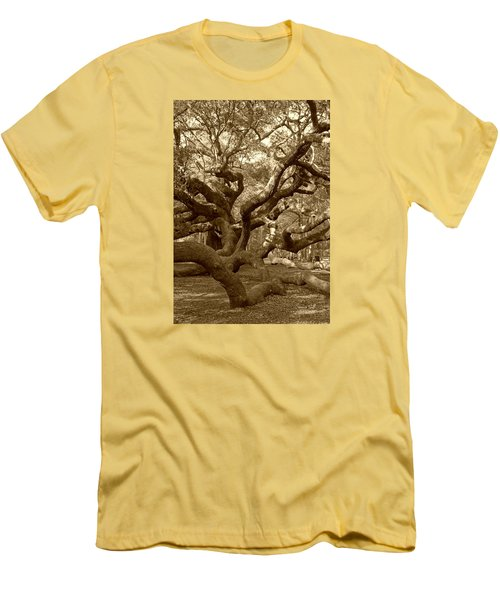 Angel Oak In Sepia Men's T-Shirt (Slim Fit) by Suzanne Gaff