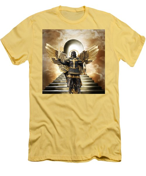Men's T-Shirt (Slim Fit) featuring the digital art Angels Watching Over Me by Karen Showell