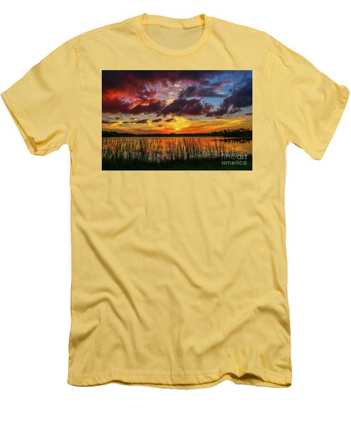 Angry Cloud Sunset Men's T-Shirt (Slim Fit) by Tom Claud