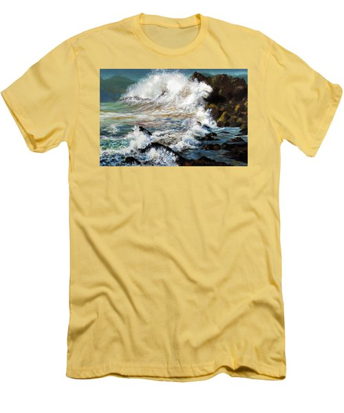 Angry Sea Men's T-Shirt (Slim Fit) by Walter Fahmy