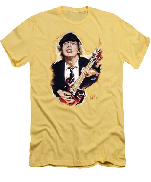 Angus Young Men's T-Shirt (Slim Fit) by Melanie D
